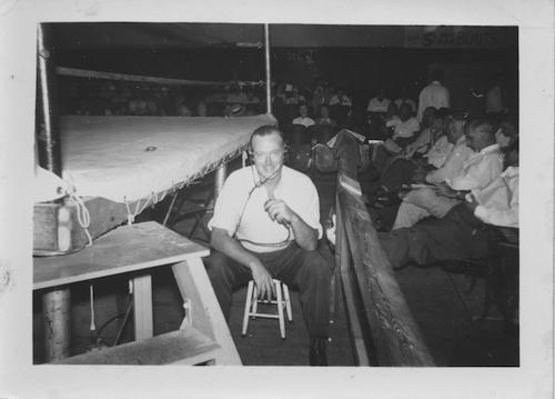 Russ Davis posing ringside