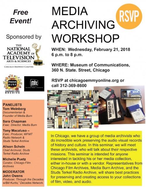 natas media archiving workshop